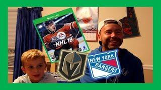 NHL18 GAMEPLAY - DAD VS RYAN - RANGERS VS GOLDEN KNIGHTS - QUINNBOYSTV