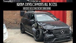 MERCEDES GLC63 AMG FRONT END CRASH REPAIR - Kream Developments:All access Episode 44