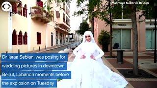 WEB EXTRA: Explosion In Beirut Interrupts Brides Wedding Photos