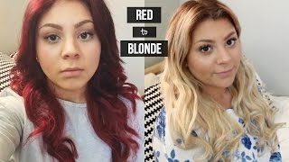 HOW TO | Red Hair to Blonde | How I Removed My Stubborn Red Color