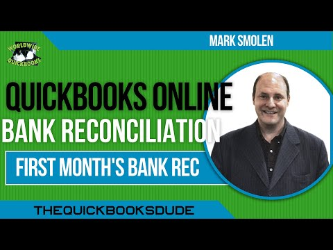 QuickBooks Online First Month Bank Reconciliation