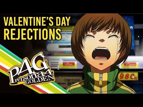 Persona 4 Golden ★ All Valentine's Day Rejection Cutscenes