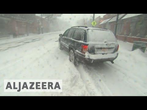 'Bomb cyclone' weather emergency across US East Coast 🇺🇸