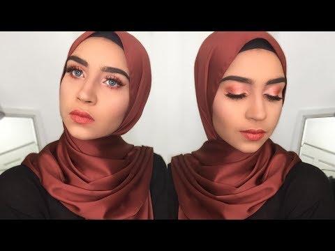 eid raya makeup tutorial 1 warm orange