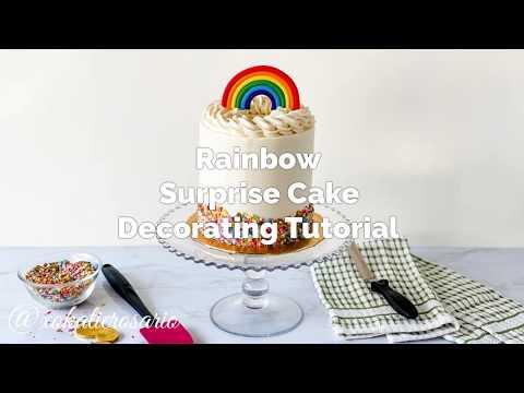Rainbow (Pot of Gold) Cake Decorating Tutorial