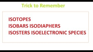 Learn Examples On Isotopes Isobars Isotones And Isodiaphers