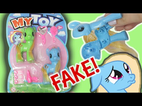 """FAKE MY LITTLE PONY?! """" My Toy Pony """" review MLP 