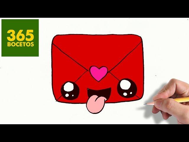 Video Como Dibujar Carta De San Valentin Kawaii Paso A Paso