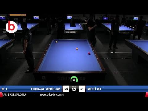 TUNCAY ARSLAN & MUTİ AY Bilardo Maçı - 2018 ERKEKLER 3.ETAP-4.TUR