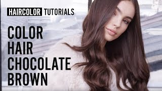 How To Do The Chocolate Brown Haircolor? By Bruno Dviana | LOréal Professionnel Tutorials