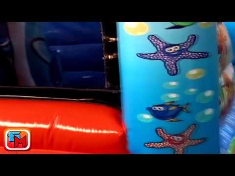 Надувной батут «Морские обитатели», размер 7х4х3 м.
