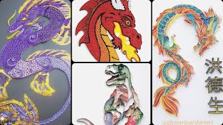 #Quilling Paper #Dragons 🐉 — Dragon #Crafts / Paper #Quilling Ideas Of #Dragons