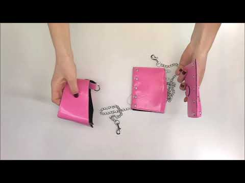 Jedinečná pouta a obojek Lollypopy cuffs & choker - Obsessive
