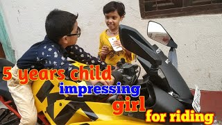 5 Years child // impressing girl to ride with ktm