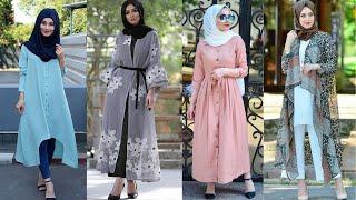 Beautiful Muslim Girls Modern Dress With Hijab Style//Hijab Dress Collection