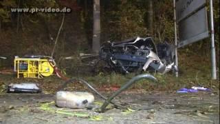 preview picture of video '29.10.2011 - Bammental - Mercedes fliegt gegen Baum - Beifahrer tödlich verletzt'