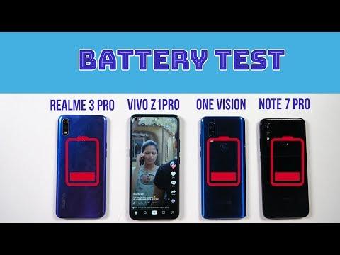 Vivo Z1Pro Battery Drain, Charging Test: Vs Moto One Vision, Realme 3 Pro, Redmi Note 7 Pro [Hindi]