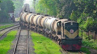 Oil Tanker Train (BTO) powered by BR Loco 6004 RSD 14 arriving at Jessore Railway Station