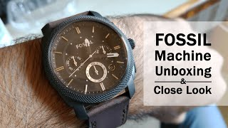 FOSSIL FS4656 Machine - Watch Before Buying This Mens Analog Watch - Unboxing & Close Look