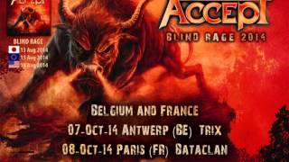ACCEPT - Blind Rage World Tour trailer 2014 featuring the song Final Journey