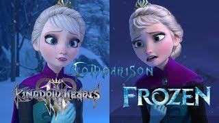 Kingdom Hearts 3 vs Frozen - Let it Go Comparison