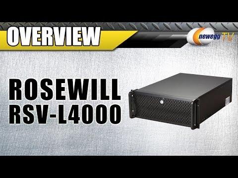 Rosewill RSV-L4000 Black Metal / Steel, 4U Rackmount Server Chassis Overview - Newegg TV