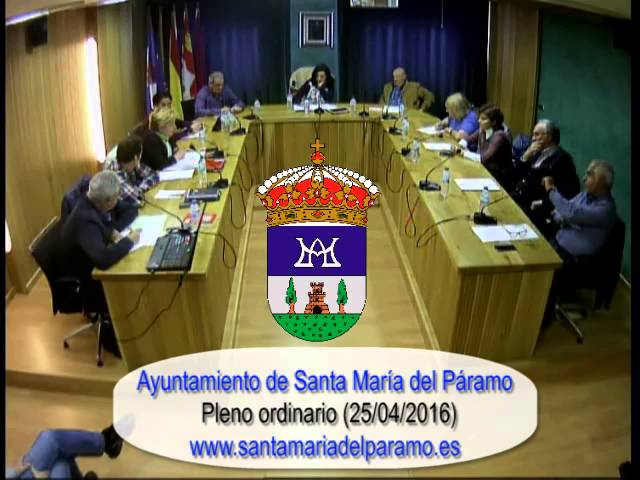 Pleno ordinario (25-04-16)