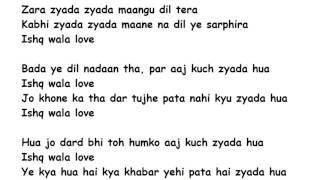 Ishq Wala Love Lyrics Full Song Lyrics Movie   - YouTube
