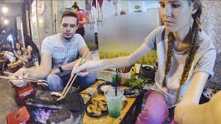 Смотреть онлайн Оригинальная еда во Вьетнаме: готовим на камнях