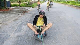 NTN -  Đua Xe Cút Kít Ngoài Đường (Racing with kids bike out side the road)