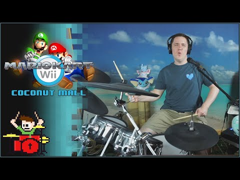 Mario Kart Wii - Coconut Mall On Drums!