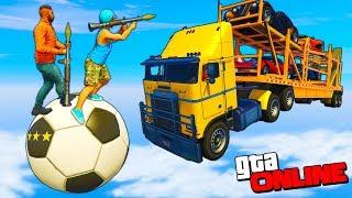 GTA 5 Online (Боулинг) - Люди С Рпг Против Грузовиков!