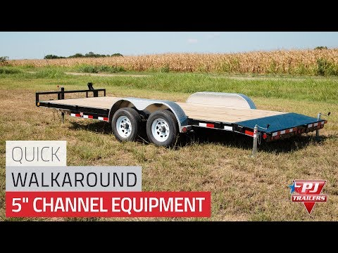 2019 PJ Trailers 5 in. Channel Equipment (CE) 22 ft. in Hillsboro, Wisconsin - Video 1