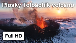 Eruption of Ploskiy tolbachik volkano