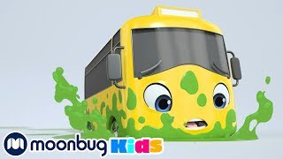 Buster's Stuck In SLIME | Cartoons and Kids Songs | Go Buster Nursery Rhymes For Kids | Learn Colors