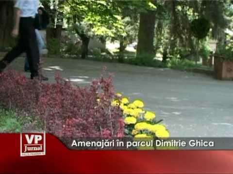 Amenajări în parcul Dimitrie Ghica