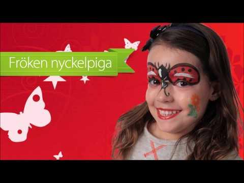 Instruktionsvideo Ansiktssminkning Nyckelpiga