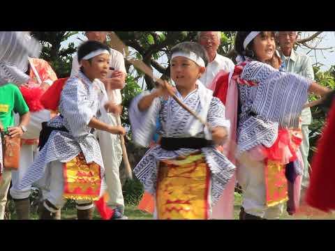 西之の奉納踊り-門倉岬の御崎神社(西野小学校・棒踊り)