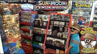 Crimson Invasion Launch Party! ALL The NEWEST POKEMON CARDS At Carls! BOOSTER BOX BATTLE Opening pt1