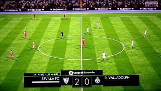 Sevilla FC Vs Real Valladolid. FIFA 18. Gameplay.