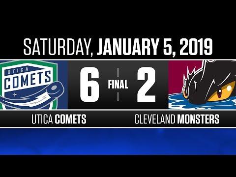 Comets vs. Monsters   Jan. 5, 2019