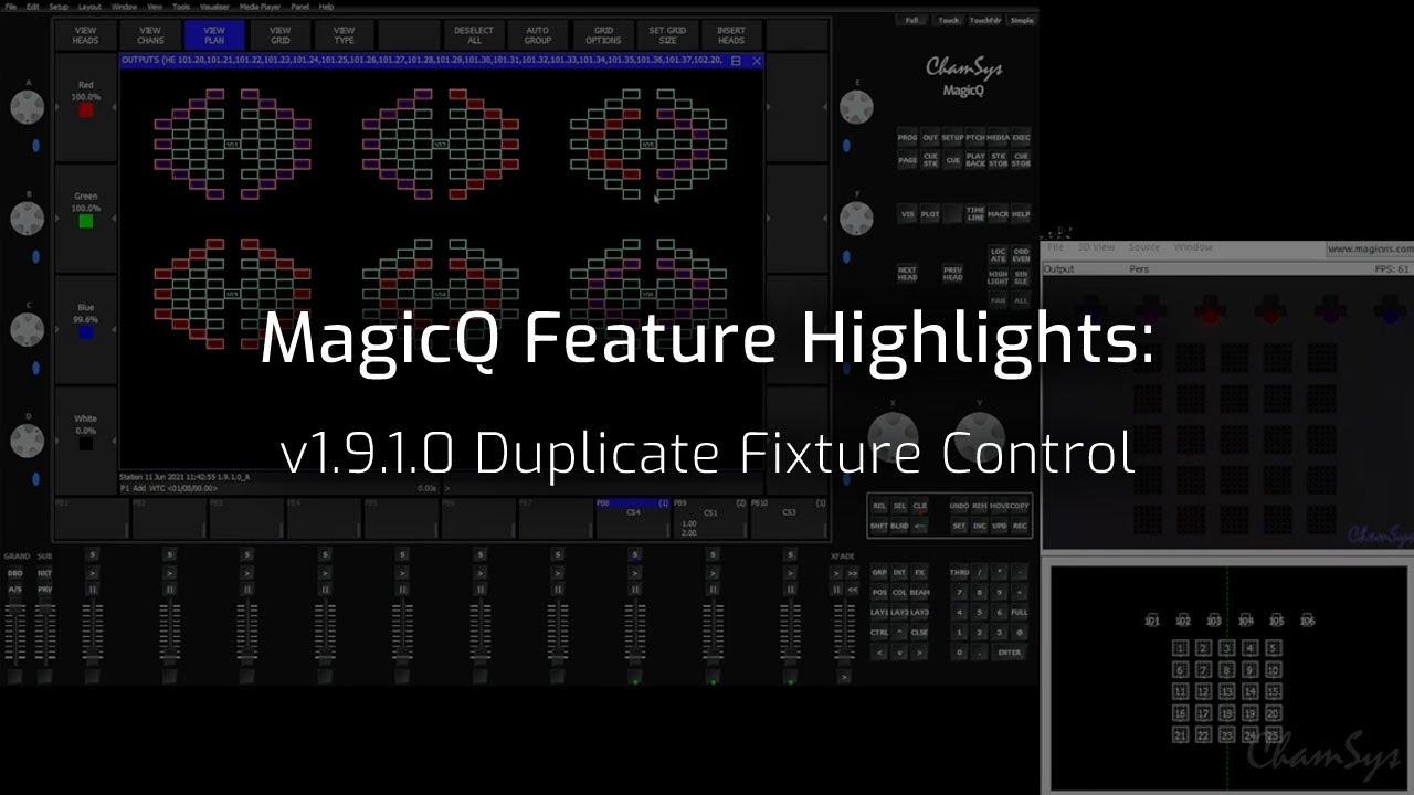 Duplicate Fixture Control
