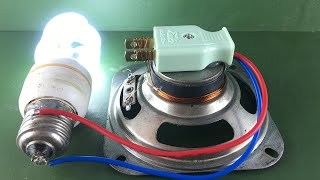 New Ideas Free Energy Electric Using Speaker Magnet   Technology Creative At Home 2020