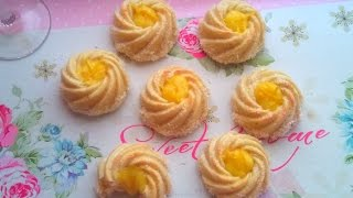 حلوى جافة رااائعة بكريمة الليمون و جوز الهند