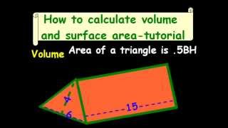 How to calculate volume and surface area-tutorial