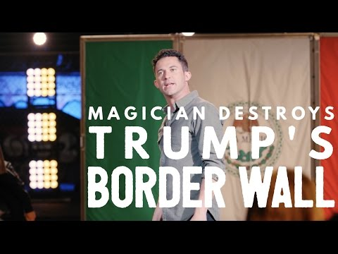 Justin Willman destroys Trump's border wall in 3 minutes