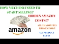 HOW MUCH MONEY TO START SELLING ON AMAZON| ALL FEES BROKEN DOWN!