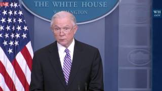 "Jeff Sessions Immigration Law Risk ""WE ARE NOT SAFE"" with Sean Spicer Press Briefing ICE"