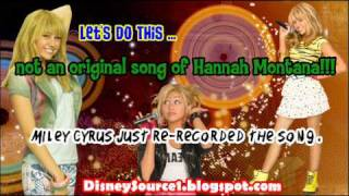 ''Let's Do This'' is not by Miley Cyrus - Listen to the Original Version here!