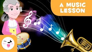 A Music Lesson | Instruments And Musical Figures For Kids